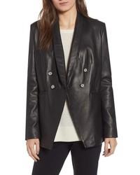 LaMarque Semi Fitted Leather Blazer