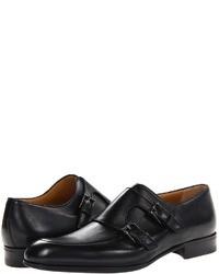 a. testoni A Tetoni Black Label Deluxe Calf Monk Monktrap Shoe