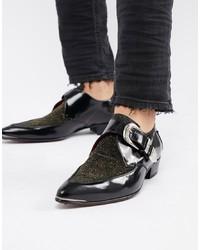 Jeffery West Adamant Glitter Monk Shoes