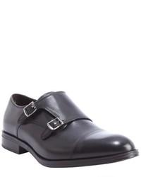 a. testoni Basic Burgundy Leather Monk Strap Loafers