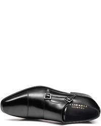 Charles Tyrwhitt Black Fenwick Toe Cap Double Buckle Monk Shoes