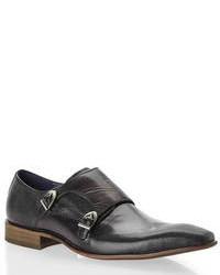 Black Jerney Monk Strap Loafers
