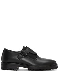Black leather monkstraps medium 952196