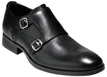 Cole Haan Williams Black Leather Monk Strap With Combination Soles-New ...
