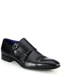 Saks Fifth Avenue Collection Double Monk Strap Leather Shoes