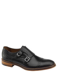Johnston & Murphy Conard Double Monk Strap Cap Toe Loafers
