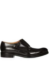 Valentino Double Leather Monk Strap Shoes