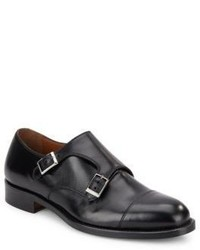 Double Monk Strap Leather Shoes