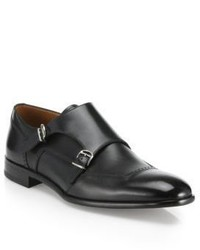Bally Double Monk Strap Leather Shoes