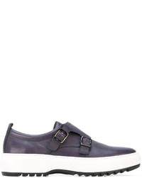 Salvatore Ferragamo Flatform Monk Shoes