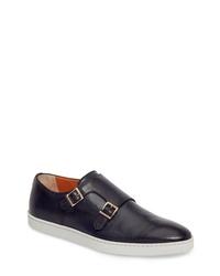 Santoni Fremont Double Monk Strap Shoe
