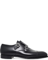 George Cleverley Thomas Double Buckle Leather Monk Shoes