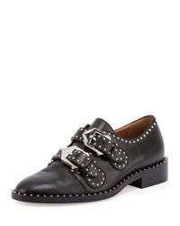 Givenchy Elegant Studded Double Monk Oxford Black