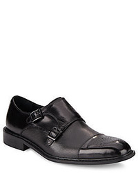 Kenneth Cole Im Hustlin Double Monk Strap Leather Dress Shoes