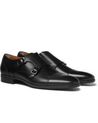 Hugo Boss Kensington Leather Monk Strap Shoes