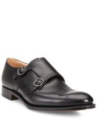 Church's Leather Brogue Double Monk Strap Shoes