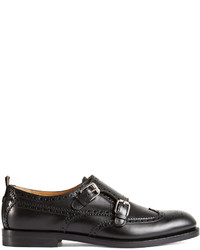 Gucci Leather Monk Strap Shoe