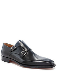 Magnanni Miro Leather Buckle Dress Loafers