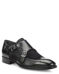 To Boot New York Cameron Leather Double Monk Strap Dress Shoes
