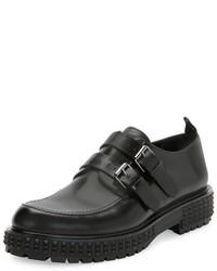 Valentino Punky Chic Double Monk Shoe Black