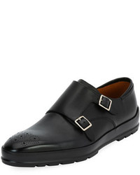Bally Redison Leather Double Monk Shoe