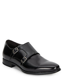 Saks Fifth Avenue Double Monk Strap Leather Shoes