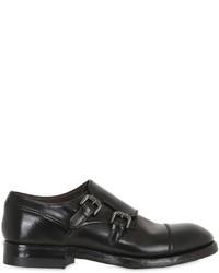 Silvano Sassetti Brushed Horse Leather Monk Strap Shoes
