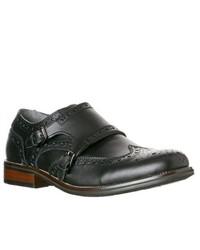 Steve Madden Exec Leather Monk Strap Loafers Black Size 11