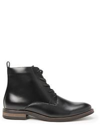 21men 21 Faux Leather Lace Up Boots