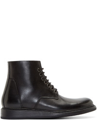 Black leather boots medium 343089
