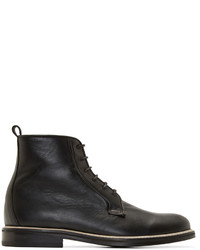 Black leather minimal boots medium 343086