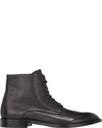 Doucal's Pebbled Leather Boots Black Size 9m