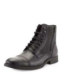 Rw Footwear Edgar Leather Double Zip Boot Black