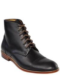 Tawny Goods Black Leather Toecap Boot