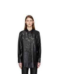 Acne Studios Black Leather Lophi Shirt