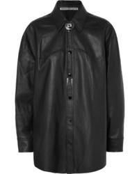 Alexander Wang Embellished Leather Shirt