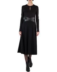 Leather waist a line dress medium 4136887