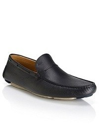 a6a439c6ff2 ... Hugo Boss Drinno Tumbled Leather Driving Loafers Black
