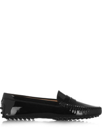Tod's Gommino Patent Leather Loafers Black