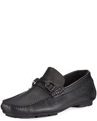 Bugatchi Monza Leather Slip On Driver Black