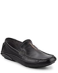 Steve Madden Novack Leather Slip On Loafers