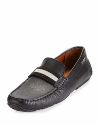 Bally Pearce Leather Driver Wtrainspotting Strap Black