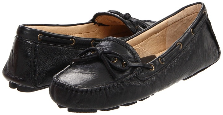 b7f426abc94 ... Black Leather Driving Shoes Frye Reagan Campus Driver ...