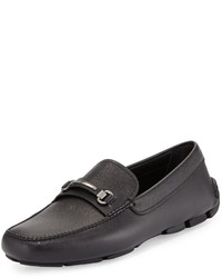 Prada Saffiano Leather Driver Black