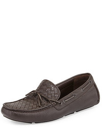 Bottega Veneta Woven Leather Driver