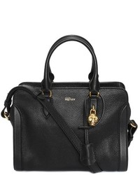 Alexander McQueen Small Padlock Leather Duffel Bag