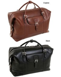 Siamod Amore 21 Inch Leather Carry On Duffel Bag