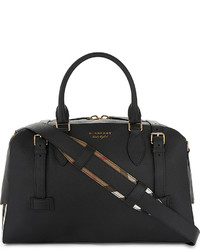 Burberry Bankston House Check Leather Holdall