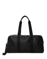 Rick Owens Black Leather Gym Bag