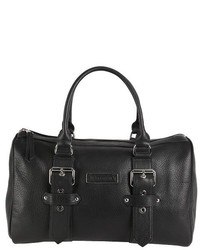 Longchamp Black Leather Kate Moss Duffle Tote